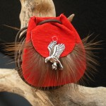 Red Hawk Power Animal Amulet by Indie Wolf